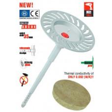 Дюбел с метален пирон и телескопичен дизайн за минерална вата - монтаж: винтоверт Wkret-met ECO-DRIVE W